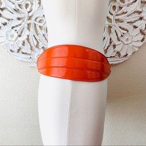 Oscar de la Renta Accessories - {Oscar de la Renta} Orange Patent Leather Belt